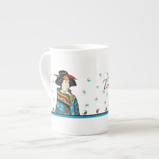 Japanese lady design, china mug