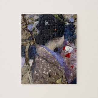 Japanese Lady with Fan by George Henry Jigsaw Puzzle