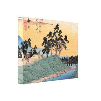 Japanese Landscape Print Canvas Print