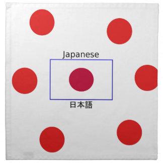 Japanese Language And Japan Flag Design Napkin