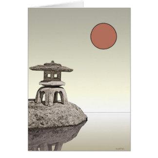 Japanese Lantern Greeting Card