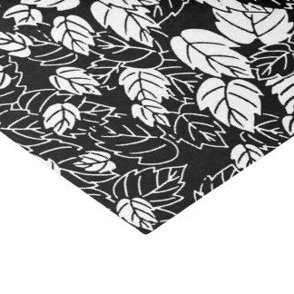 Japanese Leaf Print, Black and White Tissue Paper