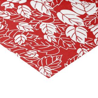 Japanese Leaf Print, Dark Red and White Tissue Paper