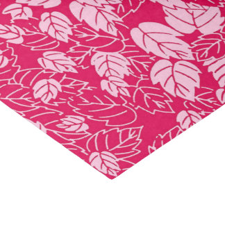 Japanese Leaf Print, Fuchsia and Light Pink Tissue Paper