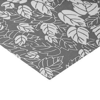 Japanese Leaf Print, Light and Dark Gray / Grey Tissue Paper