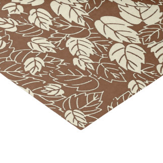 Japanese Leaf Print, Taupe Tan and Beige Tissue Paper