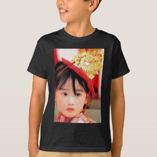 Japanese Little Girl Wearing a Kimono T-Shirt