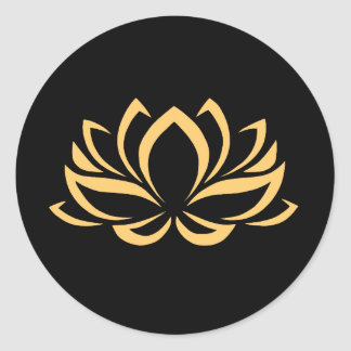 Japanese Lotus Flower Blossom Classic Round Sticker