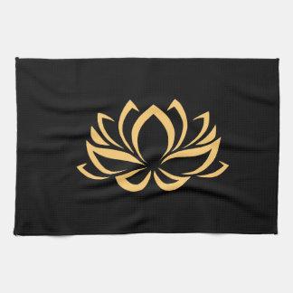 Japanese Lotus Flower Blossom Tea Towel