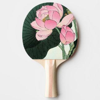 JAPANESE LOTUS FLOWER Ping Pong Paddle