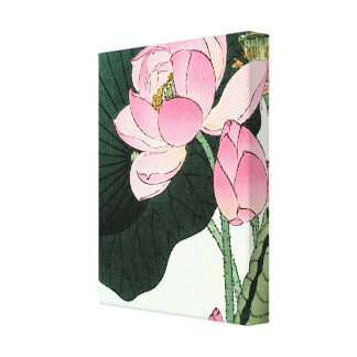JAPANESE LOTUS FLOWER Wrapped Canvas