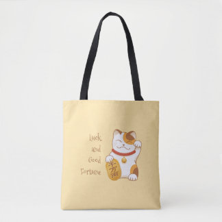 Japanese Lucky Cat, Maneki Neko Luck Good Fortune Tote Bag