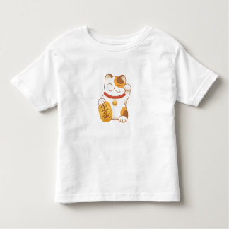 Japanese Lucky Cat, Maneki Neko Toddler T-Shirt