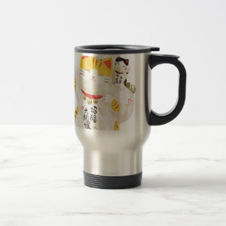 Japanese Lucky Cat Travel Mug