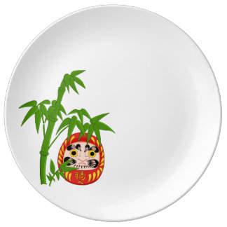 Japanese Lucky Daruma Plate