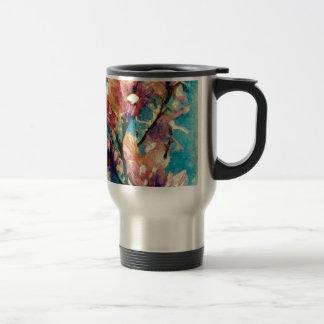 Japanese Magnolia watercolor batik Coffee Mug