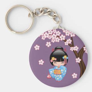 Japanese Maiko Kokeshi Doll Key Chains