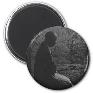 Japanese Man Kneeling in Quiet Contemplation Magnet