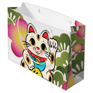 Japanese maneki Neko Sakura Gift Bag