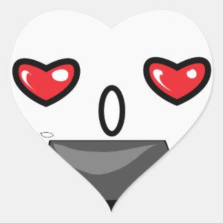 Japanese Manga Mascot Heart Sticker
