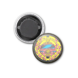 Japanese Manhole Cover Arts - Chofu Fire Hydrant Magnet
