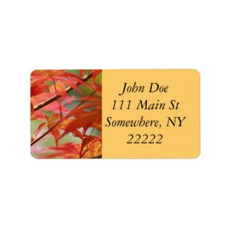 Japanese Maple Address Label