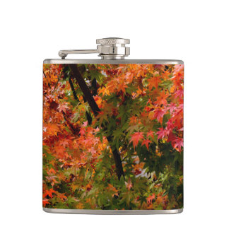 Japanese Maple in Fall Hip Flask