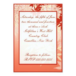 "Japanese Maple 5"" X 7"" Invitation Card"
