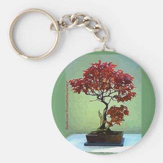 Japanese Maple Basic Round Button Key Ring