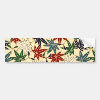 Japanese Maple Leaf Bumper Sticker