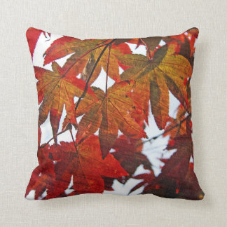 Japanese Maple Leaves in Autumn Pillows