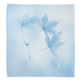Japanese Maple Leaves in Blue Bandana