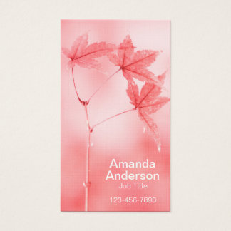 Japanese Maple Leaves in Red Business Card