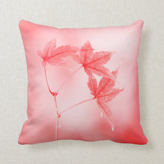 Japanese Maple Leaves in Red Cushion