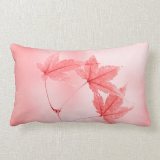 Japanese Maple Leaves in Red Lumbar Cushion