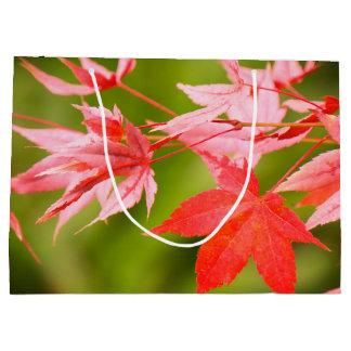 Japanese Maple Leaves Large Gift Bag
