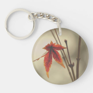 Japanese Maple Leaves Vintage Style Key Ring