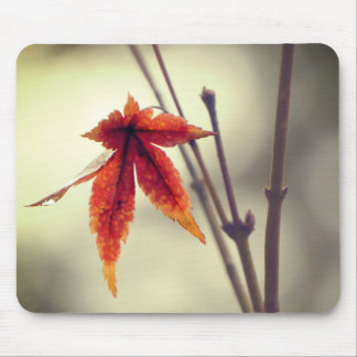 Japanese Maple Leaves Vintage Style Mouse Pad