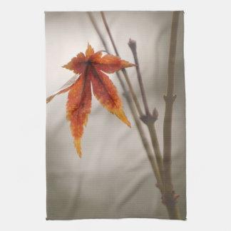 Japanese Maple Leaves Vintage Style Tea Towel