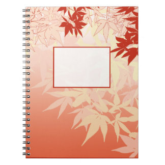 Japanese Maple Spiral Note Book