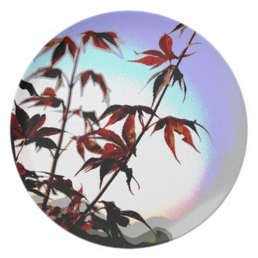Japanese Maple Spotlight Plate