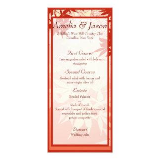 Japanese Maple Wedding Menu Custom Rack Card