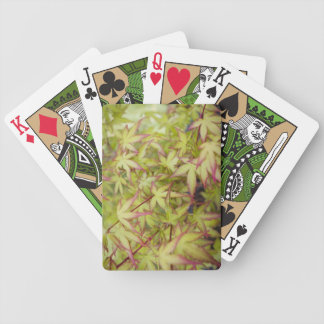 Japanese Maple with Red Fringe Bicycle Poker Deck