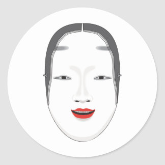 Japanese Mask Classic Round Sticker