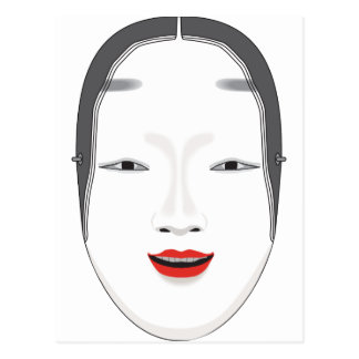 Japanese Mask Postcard