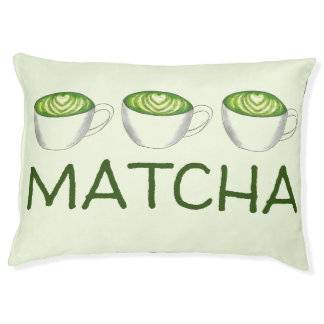 Japanese Matcha Green Tea Latte Drink Personalized Pet Bed