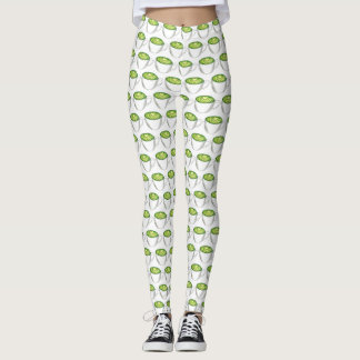 Japanese Matcha Green Tea Latte Teacup Foodie Leggings