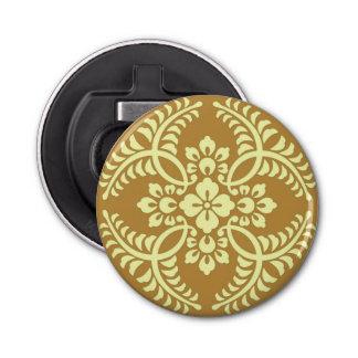 Japanese Medallion Pattern, Mustard Yellow Bottle Opener