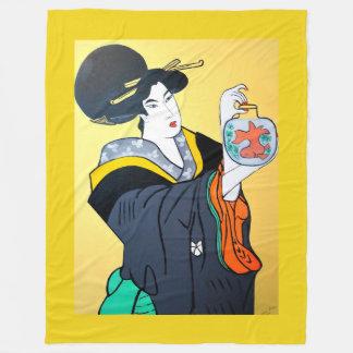 JAPANESE   MING CHEW FLEECE BLANKET