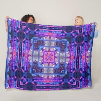 Japanese Modern Cityscape Mandala Quilt Fleece Blanket